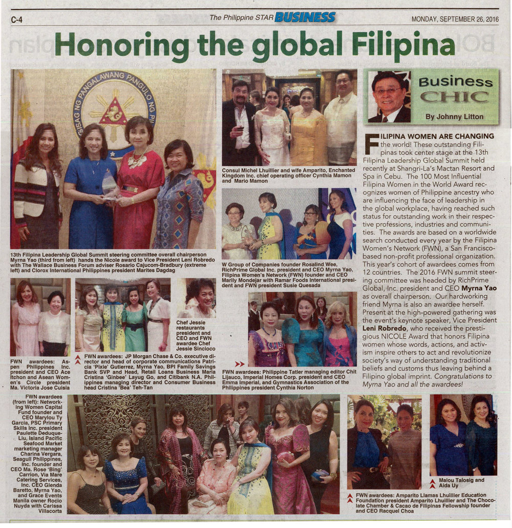 News story from the  Philippine Star Business