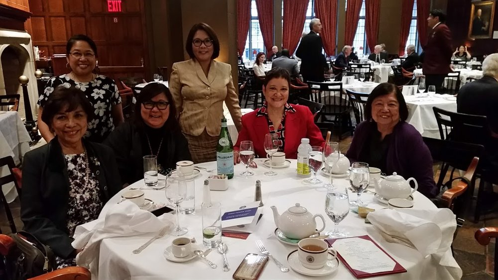 Left to right: Dr. Lirio Covey, Jocelyn Bernal Ochoa, Marily Mondejar, Dr. Bambi Lorica, Judy Arteche-Carr and Dr. Mutya San Agustin at the Harvard Club in New York on Oct. 2, 2016.