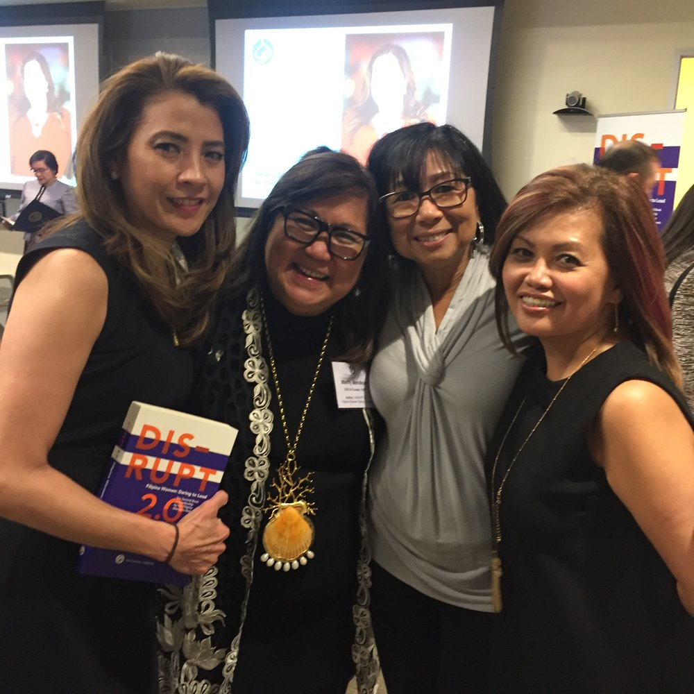 Thanks to the Schwab team, DISRUPTing SF was a huge success. Marily Mondejar (CEO & Founder, FWN) second from left pictured with Gizelle Covarrubias Robinson, Tootsie Lansang and FWN Board Member & VP Membership Amar Bornkamp (Global FWN100™ '15)