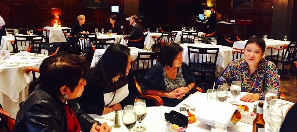 Dr. Thelma Reyes, Marina Fe Durano (Global FWN100™ '16), Mutya San Agustin Shaw (U.S. FWN100™ '07, Global FWN100™ '13), Judy-Arteche Carr (U.S. FWN100™ '09, Global FWN100™ '14)
