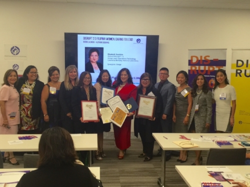 #FilipinaDISRUPTERS at DISRUPTing San Diego on Oct. 13. Commendations were presented to FWN and Francine Maigue by Marty Block, California State Senator, 39th District, Juan Vargas, Member of Congress, U.S. House of Representatives, Susan A. David, Member of Congress, U.S. House of Representatives, Lorena Gonzalez, California State Assemblywoman, 80th District, Toni G. Atkins, Speaker Emeritus, 78th Assembly District, Scott Peters, Member of Congress, 52nd District, California. Ron Morrison, Mayor of National City issued a Proclamation declaring October 13, 2016 as Filipina Women's Network Day!  FWN Members present receiving the commendations: Rocio Nuyda, Kristine Custodio, Elizabeth Bautista, Francine Maigue, Marily Mondejar, Valerie Hong, Rosario Cajucom-Bradbury and Raissa Alvero.