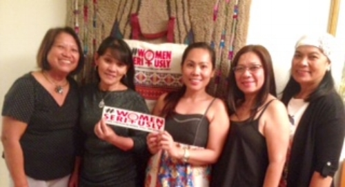 Cheryl Sevegan, FWN Member and Board of Director for NaFilCo Israel invited Filipina women leaders of Israeli-based Philippine organizations for a Peace Table Discussion in honor of the #WomanSeriously Campaign for global peace and security.