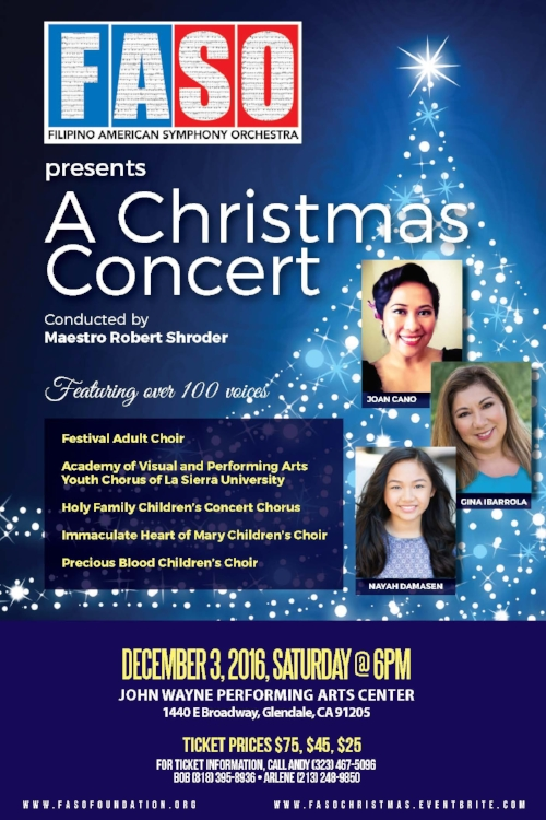 FASO Christmas Concert 2016