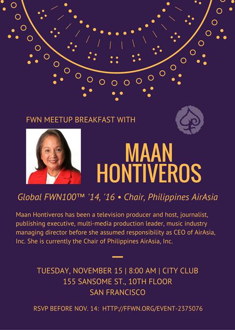 FWN Breakfast Meetup - Maan Hontiveros