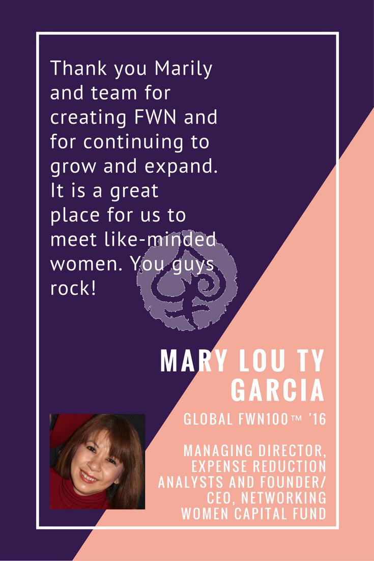 Mary Lou Ty Garcia - #FWNSummit2016 Testimoniak
