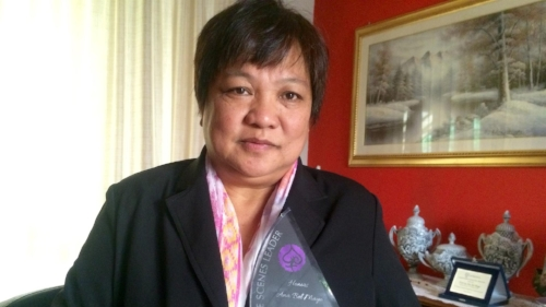 Ana Bel Mayo was named one of the Most Influential Filipina Women in the World (Global FWN100™ '16) in the Behind the Scenes Leader category in recognition of her social justice advocacy of Filipinos in diaspora in Italy. She was honored this past August in Cebu during the #FWNSummit2016. Image credit: Vita.IT