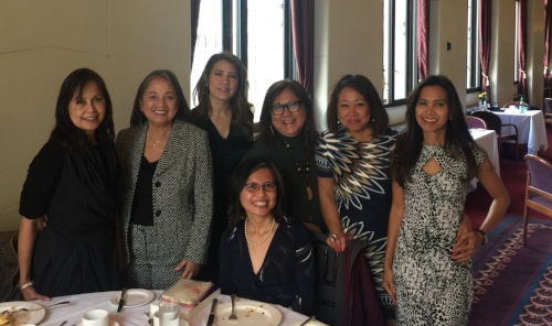 Maan Hontiveros stopped by San Francisco during her recent trip to the U.S. to meet with her FWN sisters at San Francisco's City Club. Among those present at the MeetUp Breakfast include (L-R:) guest Tess Labrador, Maan Hontiveros (Global FWN100™ '14, '16), Gizelle Covarrubias Robinson (Global FWN100™ '13), Hazel Dolio-Tag'at (Global FWN100™ '15), Marily Mondejar (FWN Founder & CEO), Sonia Delen (U.S. FWN100™ '07 and FWN Board Member), Rosario Cajucom-Bradbury (Global FWN100™ '16).