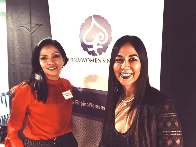 Councillor Cynthia Barker (Global FWN100™ '17) and Rowena Romulo (Global FWN100™ '17) at the #FWNSummit2018 Launch in London, UK.