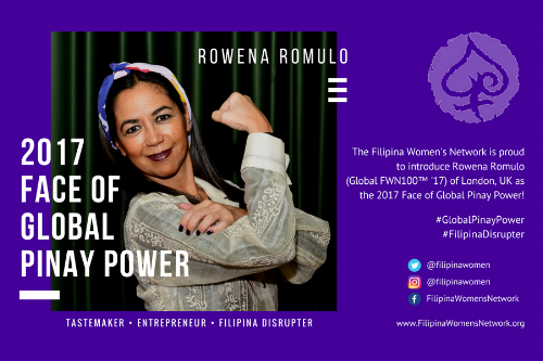 Rowena Romulo (Global FWN100™ '17) is the 2017 Face of Global Pinay Power
