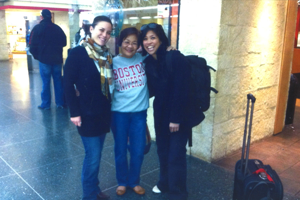 Gina Ortiz Jones, pictured with her mother and sister. Photo Credit:  Gina Ortiz Jones