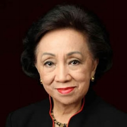 Delia Albert  (Global FWN100™ '14) Secretary of Foreign Affairs (Term 2003-2004) Republic of the Philippines   Appointed by President Gloria Macapagal-Arroyo in 2003.