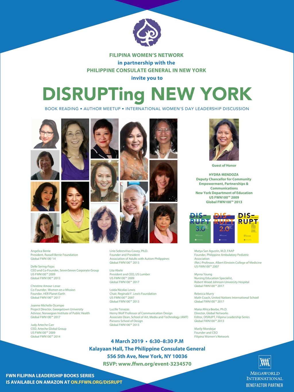 March 4—DISRUPTing New York to Celebrate International