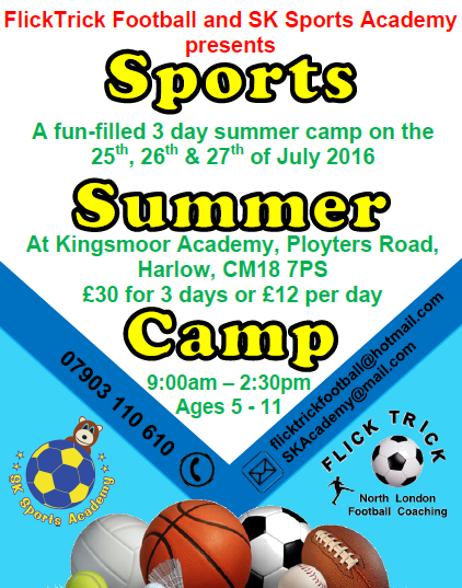 To book? Text or email your child's full name & age to 07903110610 or SKAcademy@mail.com.