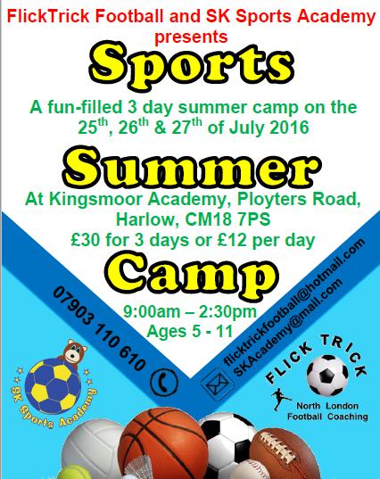 SK Sports Academy - Kingsmoor - Harlow
