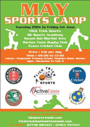 May Sports Camp Harlow