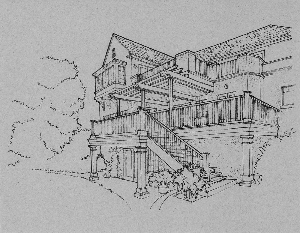 Sketch:  Rick Haier, AIA