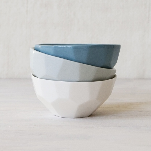 Faceted Dipping Bowls