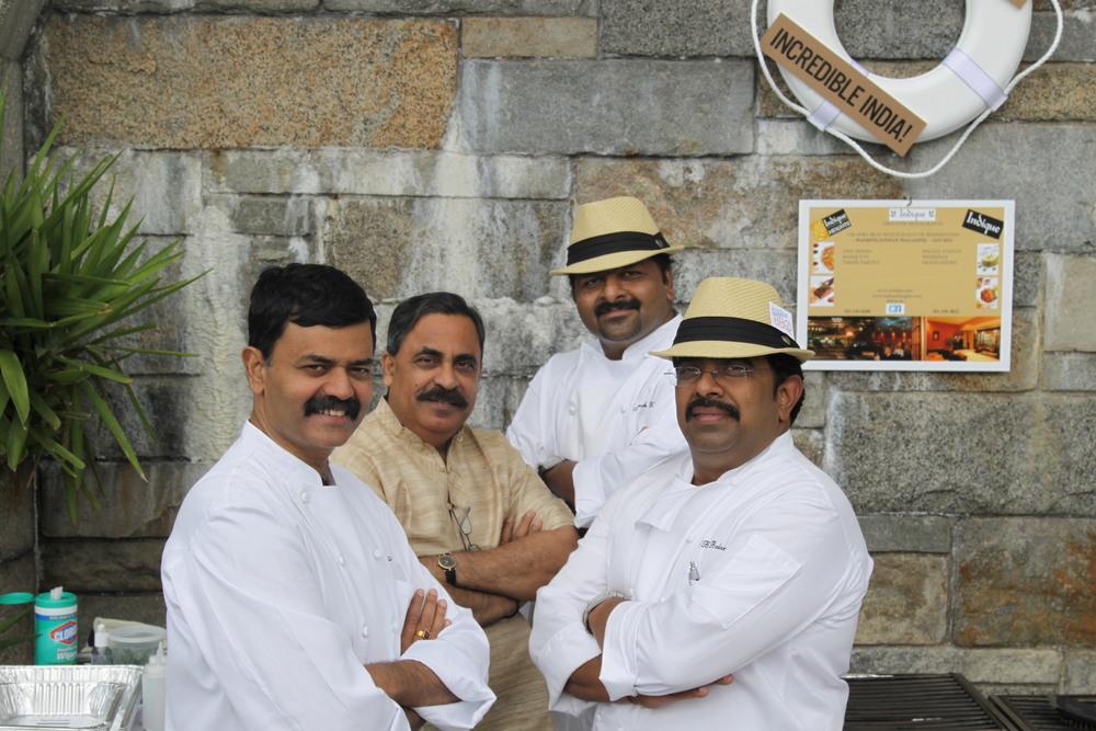 L to R :K.N.Vinod,Surfy Rahman,Abraham Varghese, andSivaraman Balamurugan