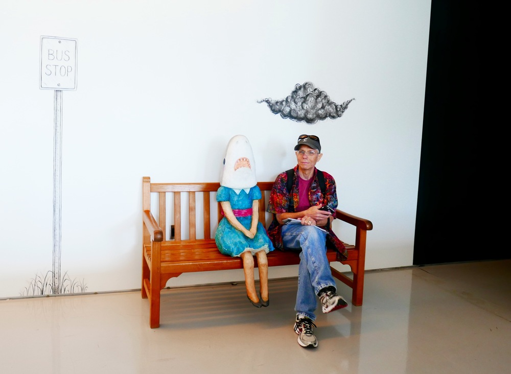 My Buddy, Jeff, with Shark Girl at the Contemporary Arts Museum in Cincinnati