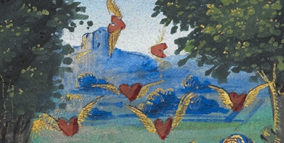 "(Illustration: Section of an image from ""The Book of Love"" - 16th Century)"