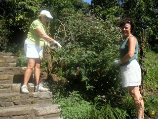 GCOG members working on the Butterfly Garden