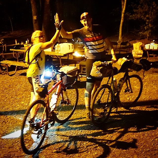 First riders in from the first day of Nomad!  Great roads and trails. Big smiles from all. Beautiful night to start a great weekend. #nomad3dayobc