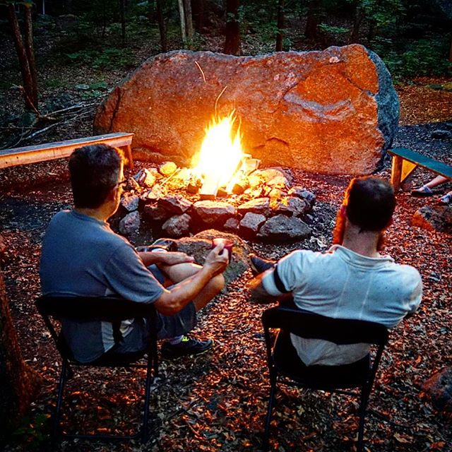 Planning the day's adventures. Day three of the Nomad begins. More trails, roads, and food. With one last fire.  #nomad3dayobc #bikepacking