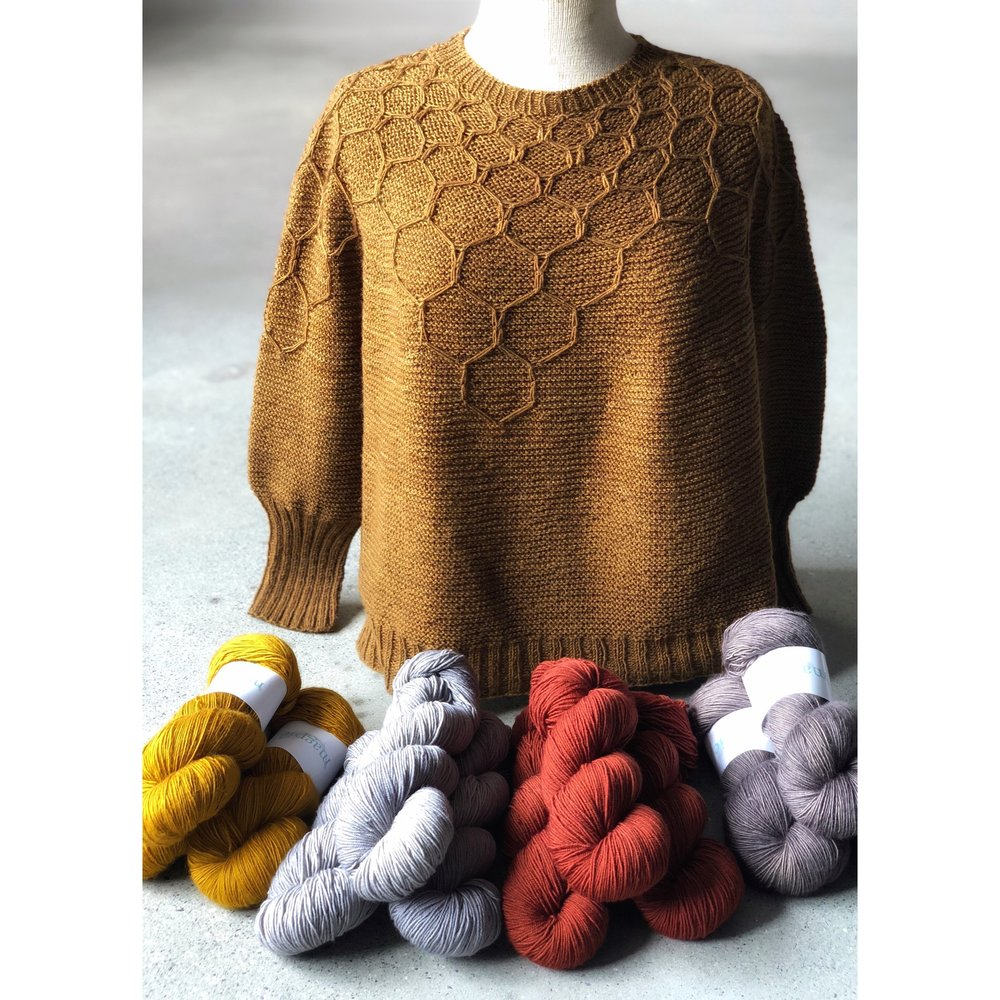 We're hosting a Knit A Long!! - We are so excited about the new Wool & Honey Sweater by our wonderful friend Andrea Mowry! Andrea likes our Domestic Fingering and Solo yarns for this one, so both will be 10% off through June 20! (Society members can use their discount as well!). Go to the Magpie Ravelry Group to find out all about it.