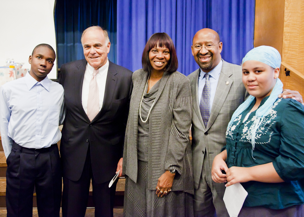 wildC.A.T.S. Tutoring Program Kick-off, Oct. 26, 2011, with Gov. Ed Rendell and Mayor Michael Nutter.