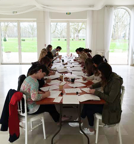 Once upon a time, I got to teach calligraphy to an awesome crew of photographers in a chateau in France.