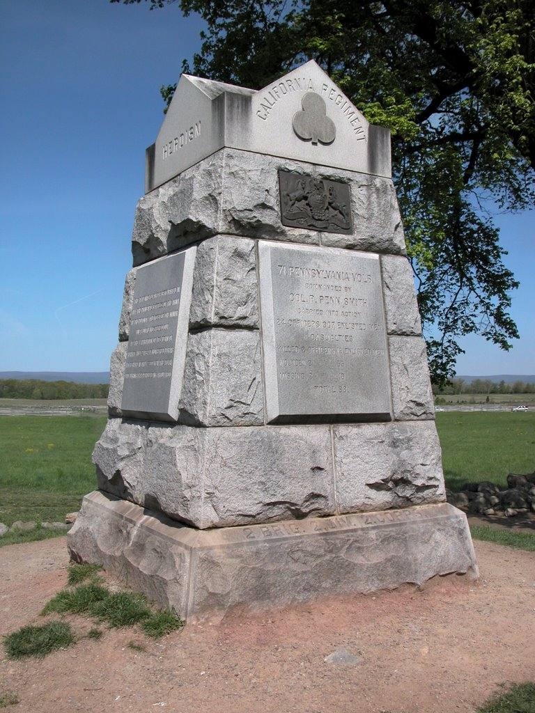 The 71st Pennsylania Monument at Gettysburg