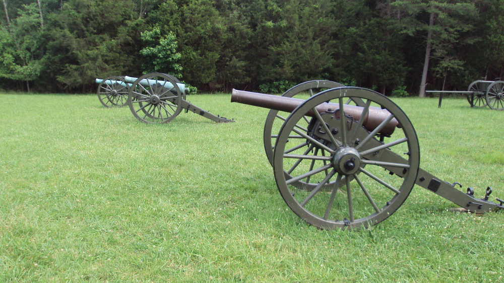 artillery pieces still stand watch over Hazel Grove, a critical piece of high ground witness to fierce bloodshed on May 3, 1863