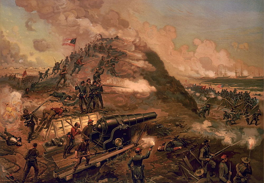 "A dramatic depiction of the assault on fort fisher, the ""Gibraltar of the south"" and guardian of Wilmington, North Carolina."