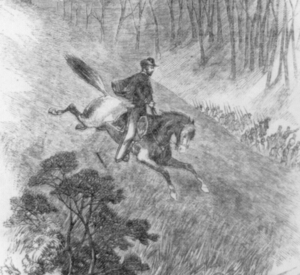 Sketch of Col. Frederick Lander during the Philippi Races.