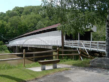 The covered bridge at Philippi still stands as a monument to the battle.