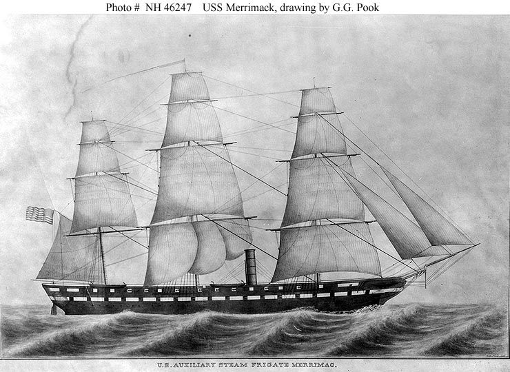 USS Merrimack, by G.G. Pook
