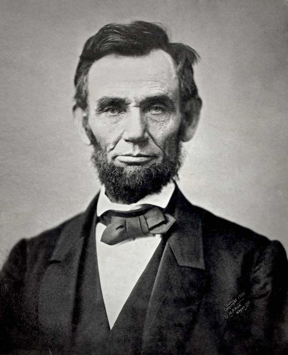 Lincoln in 1863, half-way through the Civil War.
