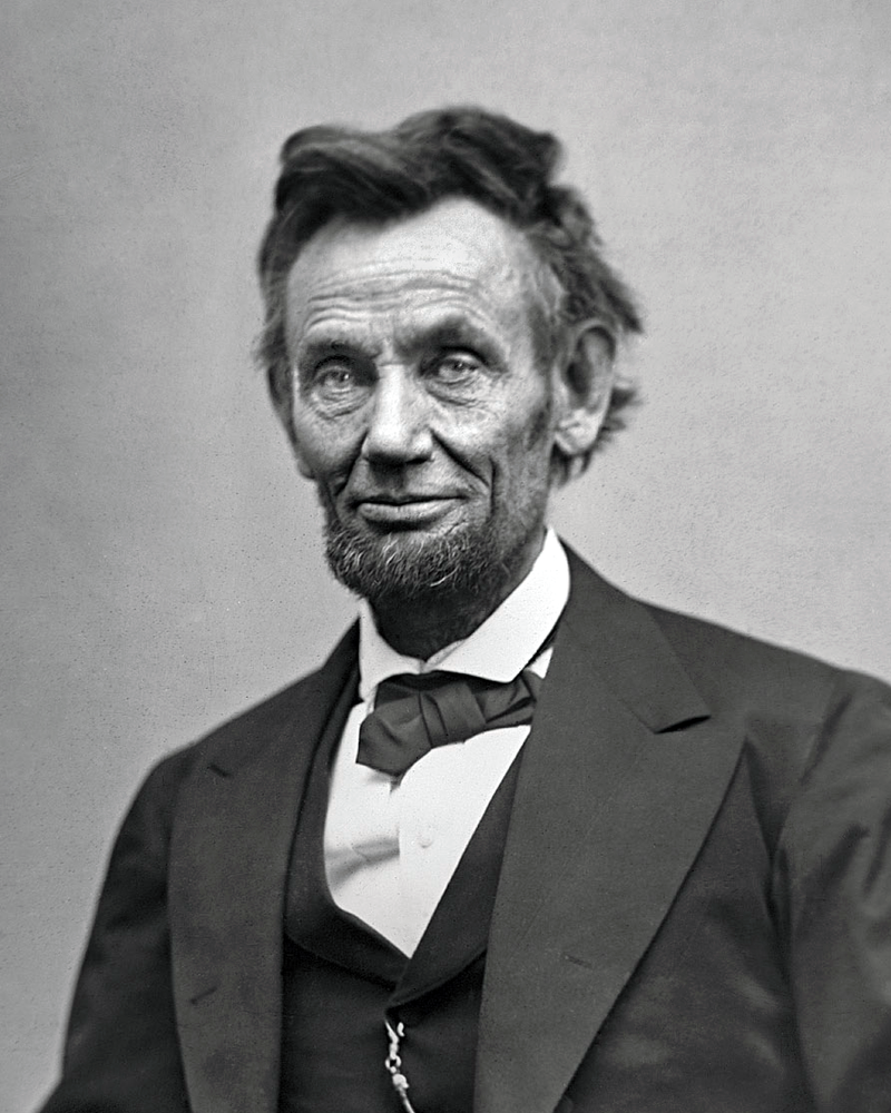Lincoln in 1865, a couple months before his assassination.