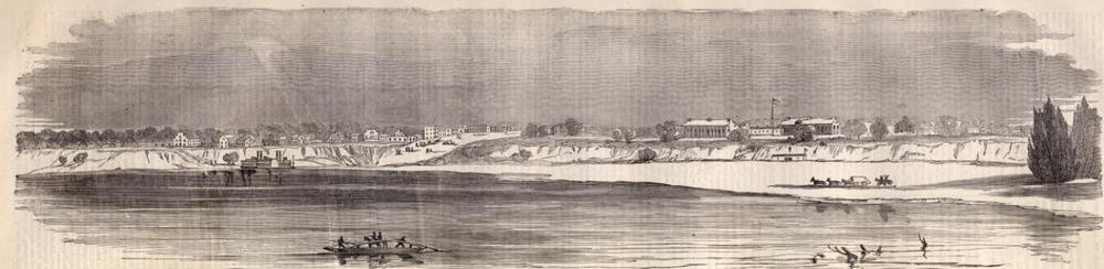 Fort Smith, on the border of Arkansas and Indian Territory, in 1861