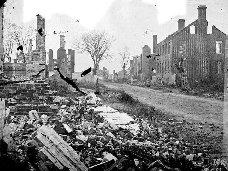 the bombardment took a toll on the houses and nerves of fredericksburg residents.