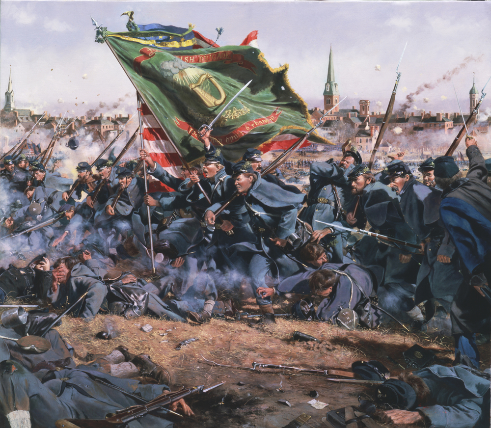 The Irish Brigade charges up Marye's Heights at Fredericksburg