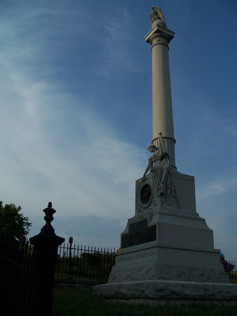 This large monument commemorates McKinley's actions under fire during the Battle of Antietam.