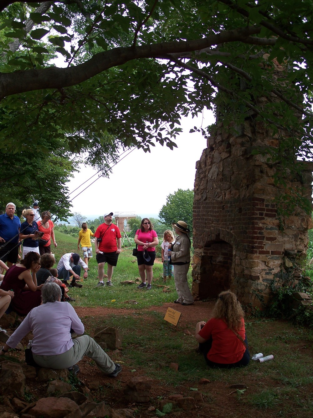 The slavery tour takes visits along mulberry row, the center of slave life at monticello.