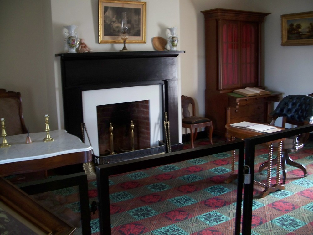 the reconstructed mclean parlor where lee surrendered to grant at appomattox. (photo by author)