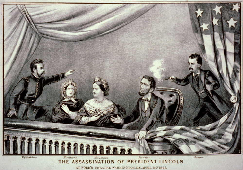Currier and Ives depiction of lincoln's assassination.