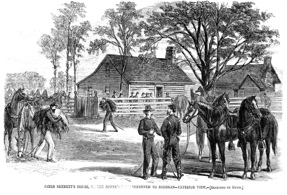 Bennett Place, sketched by Theodore R. Davis ( Harper's Weekly )