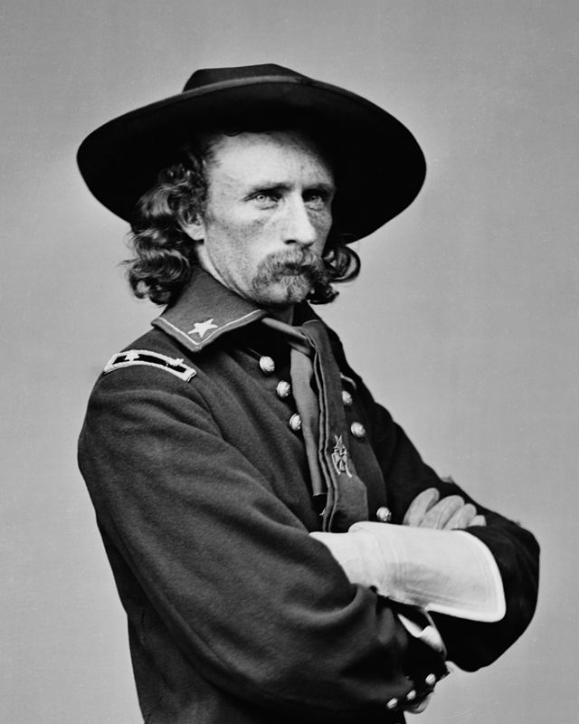 Union cavalry commander George Custer was instrumental in repelling Jeb Stuart's July 3rd charge at Gettysburg.