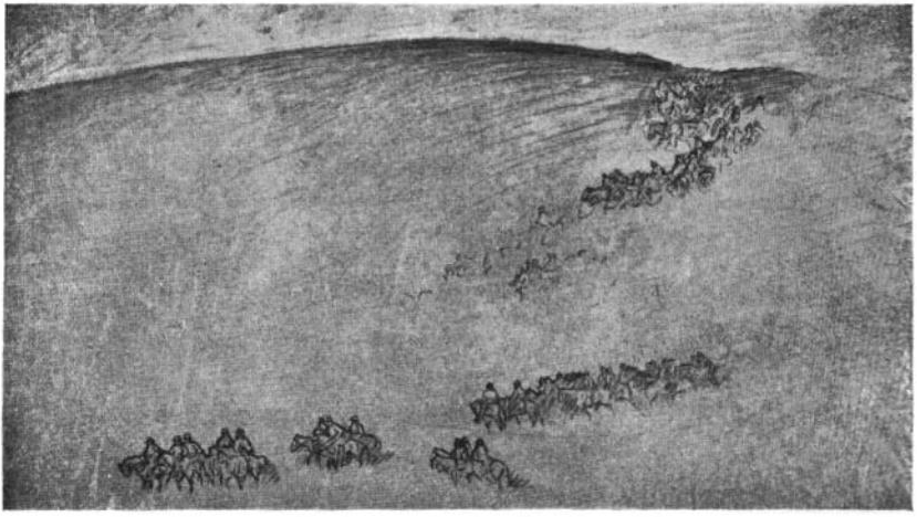 Sketch of Borglum's grand plan for Stone Mountain
