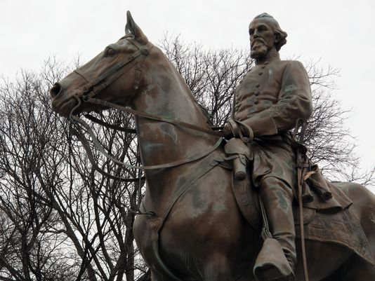 A statue of Nathan Bedford Forrest in Memphis is one of many pieces Confederate iconography to garner attention and discussion in recent months