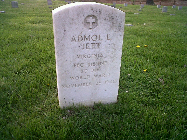 The Jett headstone is one of the only to have inscriptions on both sides.
